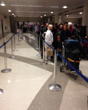 Global Entry program Customs Baggage Check line is empty