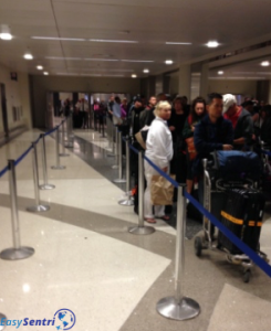 Global Entry program members with no line at LAX