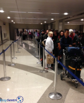 Global Entry Customs line at LAX in Los Angeles