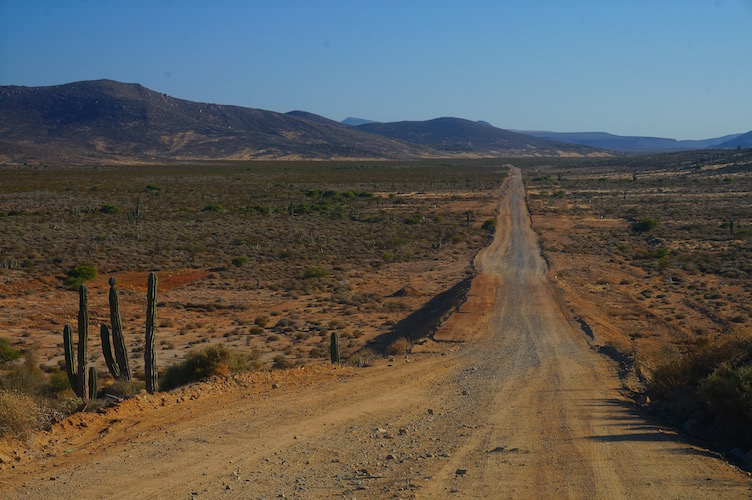 Dusty Road in Baja Mexico to Scorpion Bay