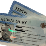 SENTRI card with Global Entry card. Both share each others benefits