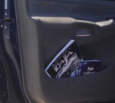 Lonely Planet Baja in Car Door
