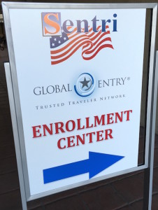 SENTRI and GLOBAL ENTRY Sign