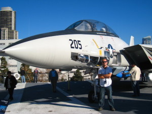 Tomcat on USS Midway in San Diego