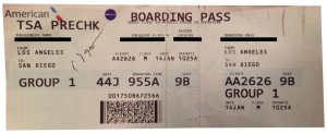 AA Bording pass with TSA PreCheck