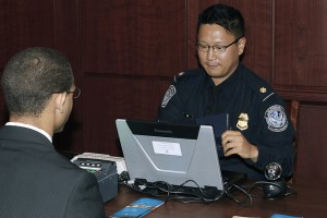 Global Entry Interview with passport