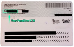 KTN or PASS ID on Global Entry card